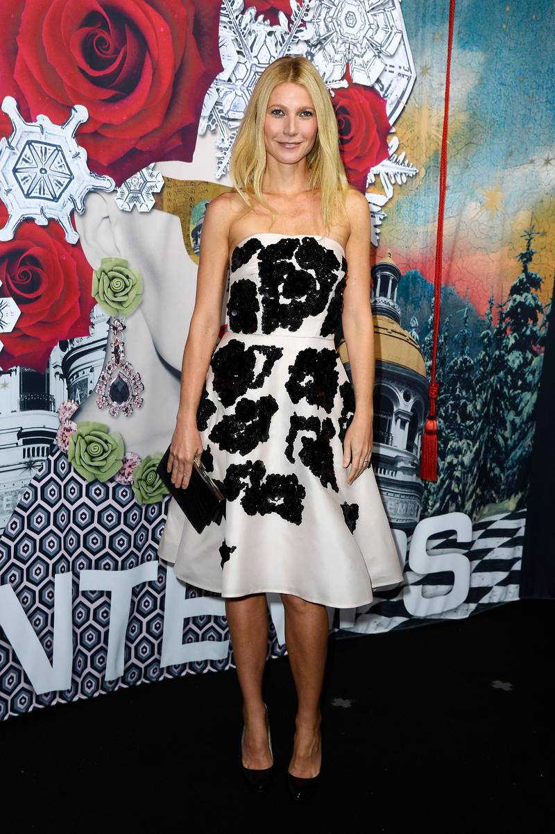 PARIS, FRANCE - NOVEMBER 07:  Gwyneth Paltrow launches the Printemps Christmas Decorations Inauguration at Printemps Haussmann on November 7, 2013 in Paris, France.  (Photo by Pascal Le Segretain/Getty Images)
