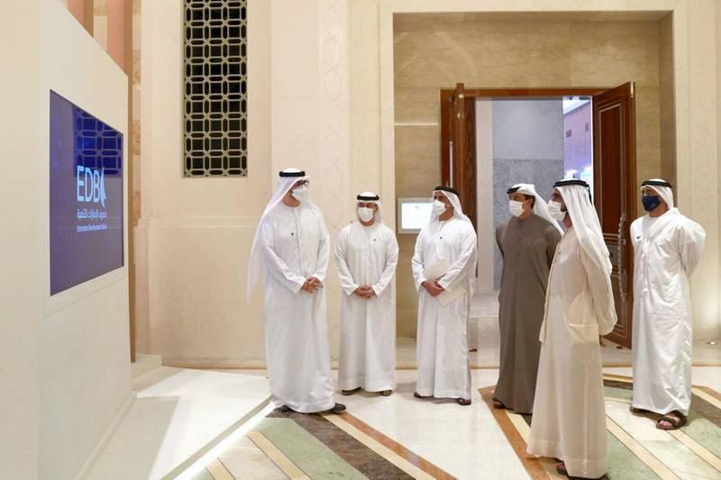 Sheikh Mohammed bin Rashid attends launch of Emirates Development Bank. WAM