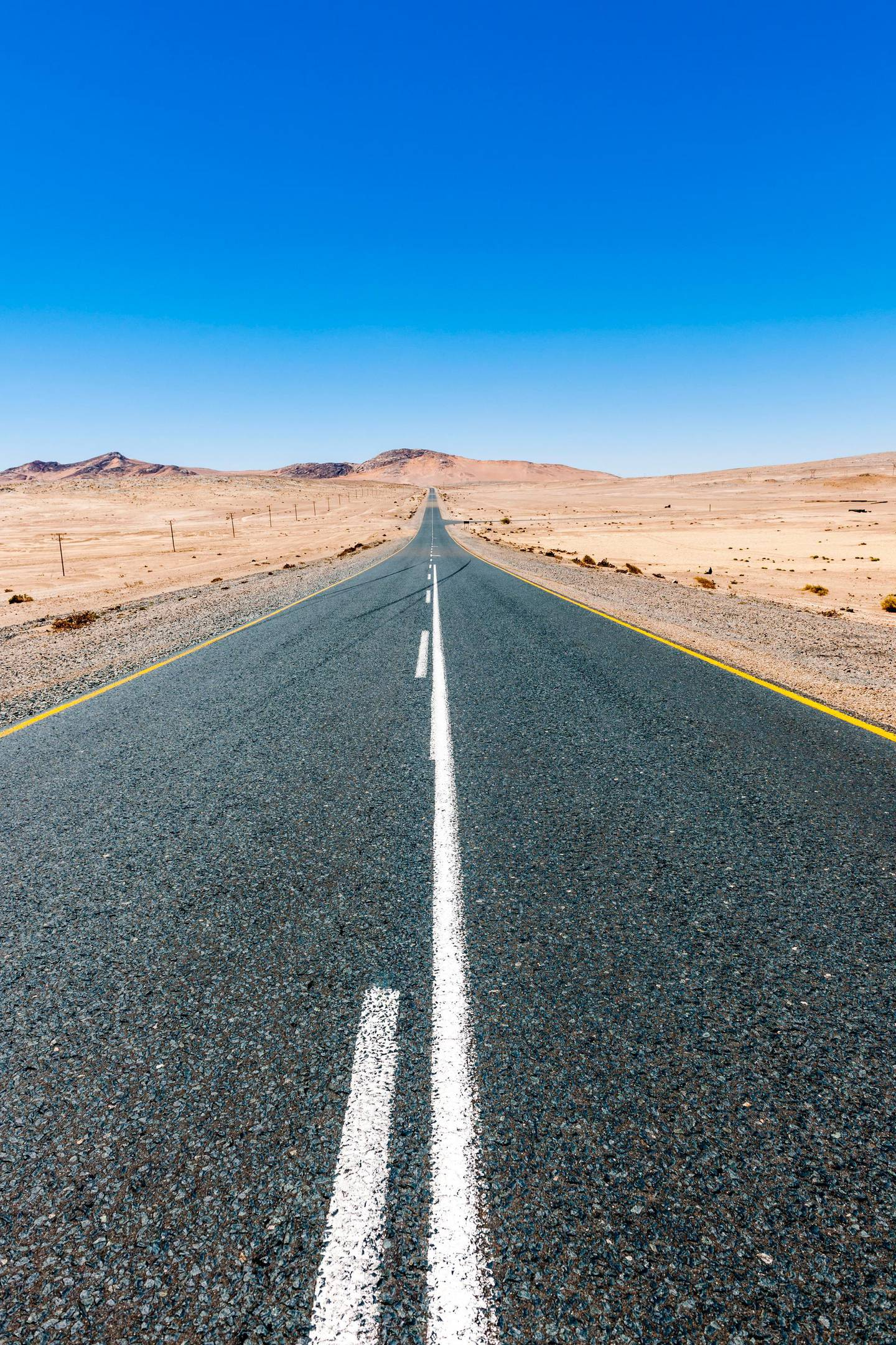 Namibia, Namib desert, road B4 southeast of Luederitz. Getty Images
