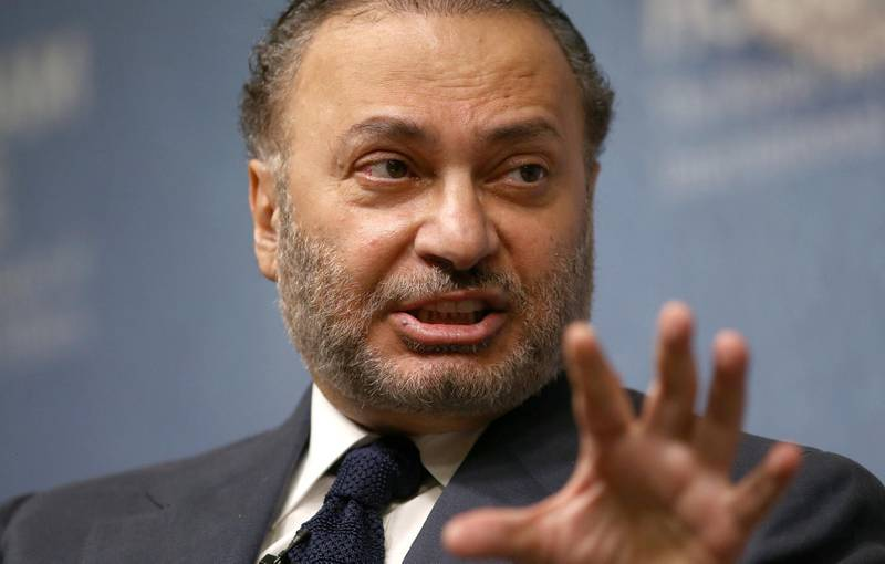 Minister of State for Foreign Affairs for the United Arab Emirates, Anwar Gargash, speaks at an event at Chatham House in London, Britain July 17, 2017. REUTERS/Neil Hall