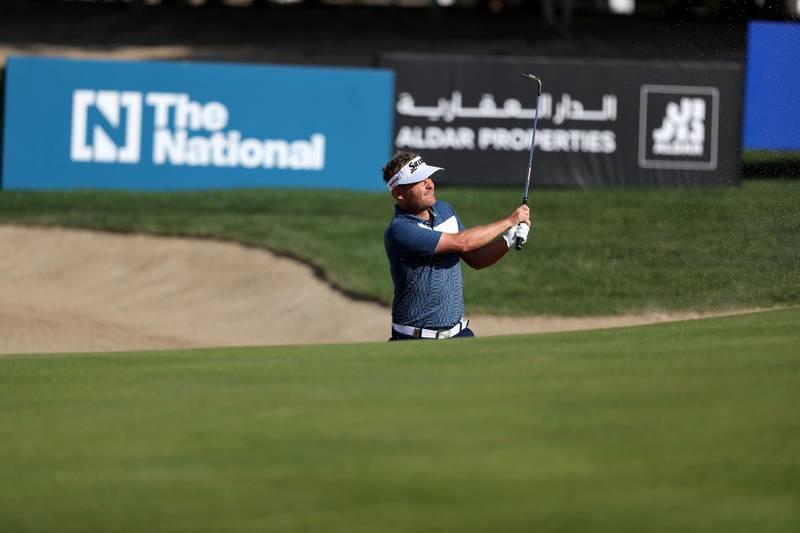 Abu Dhabi, United Arab Emirates - Reporter: Paul Radley and John McAuley: Søren Kjeldsen plays a shot on the 3rd hole on the 4th and final day of the Abu Dhabi HSBC Championships. Sunday, January 19th, 2020. Abu Dhabi Golf Club, Abu Dhabi. Chris Whiteoak / The National