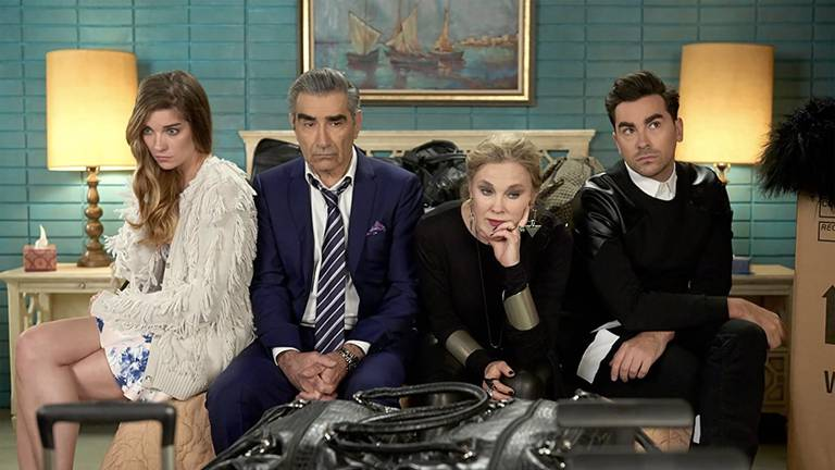An image that illustrates this article 'Schitt's Creek' is being turned into a Monopoly game