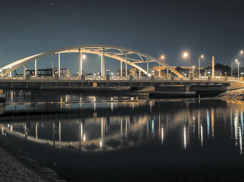 "Abu Dhabi, U.A.E. .  December 20, 2018.  Neighborhood profile:  Bein Al Jesrain area now known as Al Maqta area.  Jokingly know as the ""mini Maqta"" bridge.Victor Besa / The National.Section:  NAReporter:  Haneen Dajani"