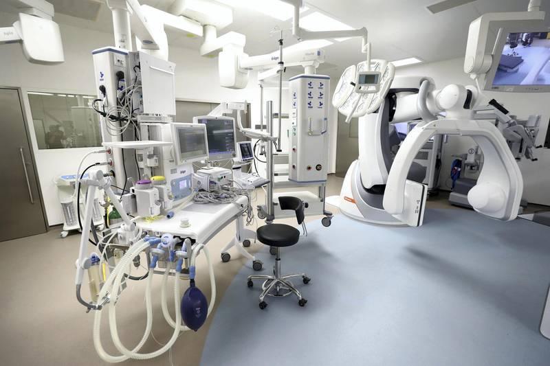 Abu Dhabi, United Arab Emirates - November 14, 2019: Operation Rooms. Tour around new Sheikh Shakhbout hospital. Thursday the 14th of November 2019. Sheikh Shakbout Medical City, Abu Dhabi. Chris Whiteoak / The National