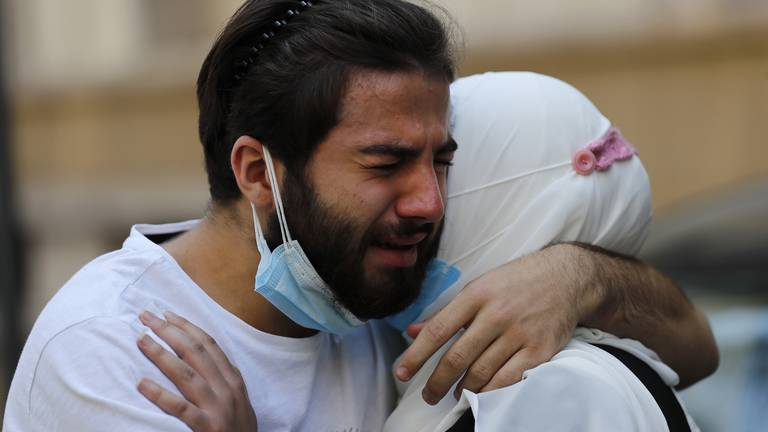 An image that illustrates this article Beirut port blast claims another victim, 13 months later