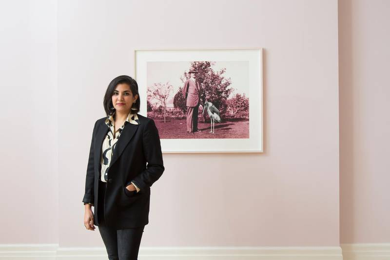 Heba Y. Amin -  Egyptian artist. Photographed at the Mosaic Rooms in London for The National UAE Newspaper