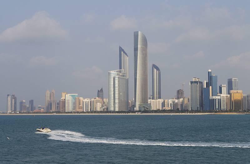 Abu Dhabi, United Arab Emirates. January 13, 2014///Skyline of Abu Dhabi. Mona Al-Marzooqi/ The National Section: Weekend
