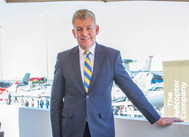 Dubai, United Arab Emirates- Paul Griffitts, CEO of Dubai Airports at the Dubai Airshow 2019 at Maktoum Airport.  Leslie Pableo for the National