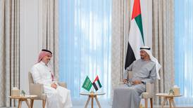 Sheikh Mohamed bin Zayed receives Saudi Arabia's Foreign Minister