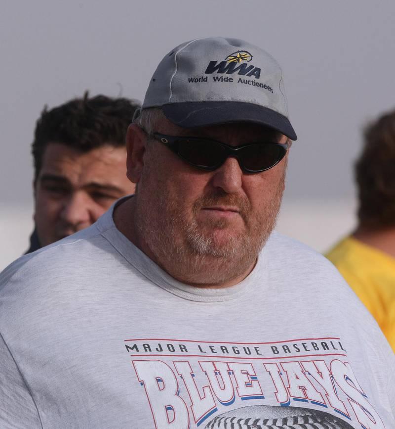 DUBAI-APRIL 18,2008 - Dubai Hurricane coach Steve Holohan watch his team play during the Arabian Gulf Super Nines Play-off final at Dubai Rugby ground in Umm Nahad,Dubai. ( Paulo Vecina/The National ) *** Local Caption *** PV Rugby 17.JPG