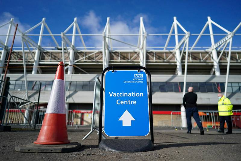 MIDDLESBROUGH, ENGLAND - MARCH 22: The Riverside Stadium opens as a covid-19 vaccination centre on March 22, 2021 in Middlesbrough, England. The Vaccination Centre in Middlesbrough joins the four Large Vaccination Centres which are at Newcastle's Centre for Life, the NHS Nightingale Hospital North East, Sunderland, the Arnison Centre, Durham and Darlington Arena. These large centres complement local GP led vaccination services along with other large centres that will open in other parts of the region in the coming weeks. The Riverside Stadium Vaccination Centre will be run by clinical staff, people who have been trained to become vaccinators, administrative staff and a range of volunteers all who make sure the service operates as smoothly and safely as possible. (Photo by Ian Forsyth/Getty Images)