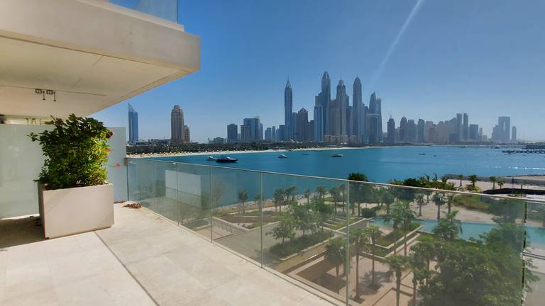 An image that illustrates this article Dubai property of the week: Dh14m One at Palm Jumeirah apartment has Miami vibes