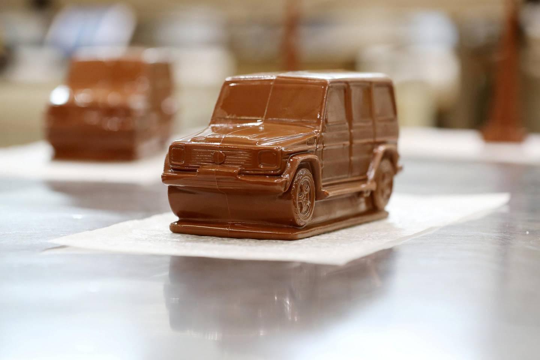 Dubai, United Arab Emirates - June 24, 2019: A tour round Al Nassma chocolate factory the first company to produce camel milk chocolate. Monday the 24th of June 2019. Silicone Oasis, Dubai. Chris Whiteoak / The National