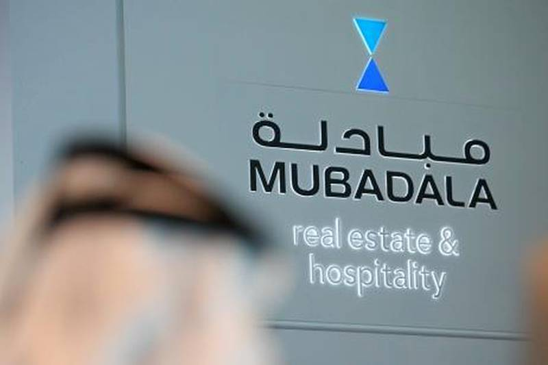 DUBAI, UNITED ARAB EMIRATES – Oct 4: Mubadala stand in the Cityscape Global 2010 at Dubai International Convention and Exhibition Centre in Dubai. (Pawan Singh / The National) For Business Stock