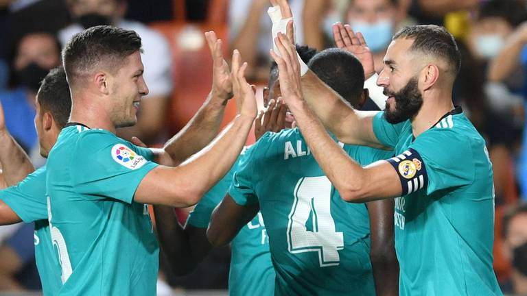 An image that illustrates this article Ancelotti praises Real Madrid's 'indomitable spirit' after late win at Valencia