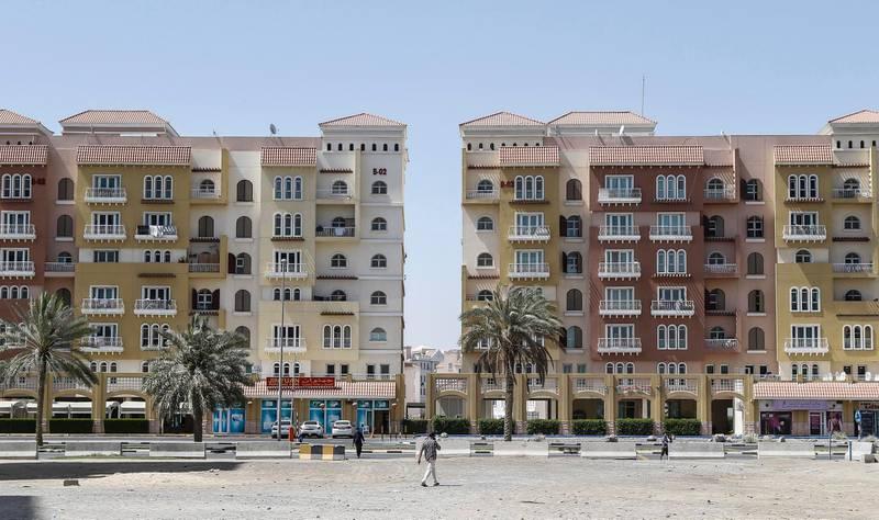 DUBAI, UNITED ARAB EMIRATES, 30 APRIL, 2015. Stock photography of apartment buildings in International City developed by Nakheel. (Photo: Antonie Robertson) Journalist: STOCK. Section: Business. *** Local Caption ***  AR_3004_Stock_International_City10.JPG