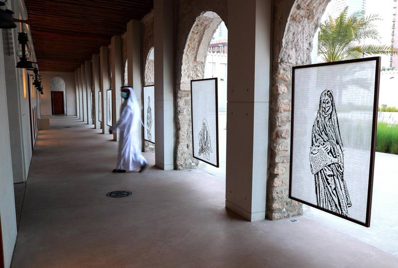 Abu Dhabi, United Arab Emirates, December 16, 2020.  Fashion Through The Years Exhibition at Qasr Al Hosn.  The Exhibit explores the history of Abu Dhabi and the stories of the its people through garments they wore and the embellishments they adored themselves with.Victor Besa/The NationalSection:  ACReporter:  Evelyn Lau