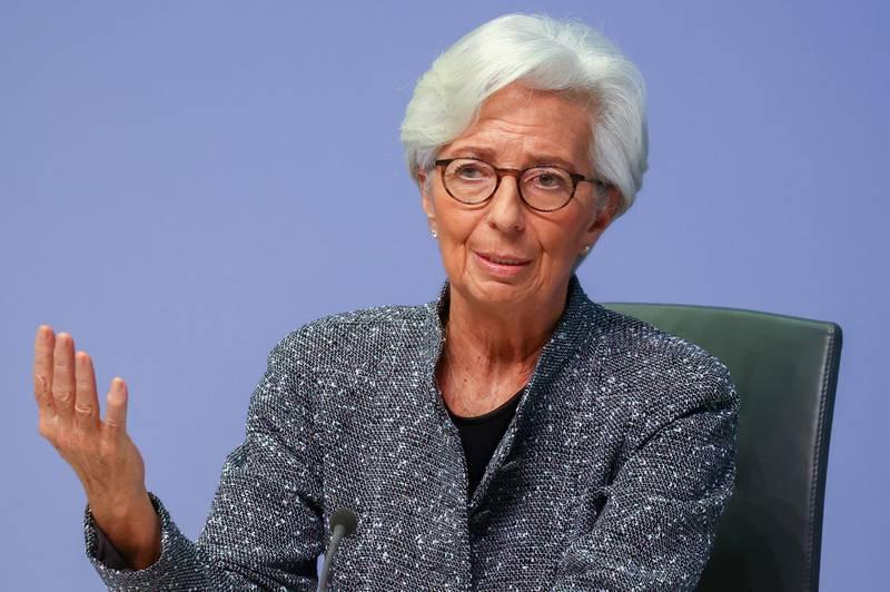 FILE PHOTO: European Central Bank (ECB) President Christine Lagarde in Frankfurt, Germany, March 12, 2020. REUTERS/Kai Pfaffenbach/File Photo