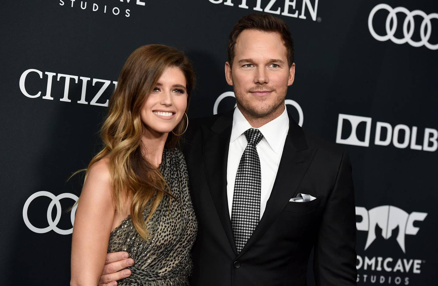 """FILE - Katherine Schwarzenegger, left, and Chris Pratt arrive at the premiere of """"Avengers: Endgame"""" in Los Angeles on April 22, 2019. Pratt and Schwarzenegger say they are """"beyond thrilled"""" and """"extremely blessed after she gave birth to their first child together. The """"Avengers"""" actor and the children's book author announced the birth of daughter Lyla Maria Schwarzenegger Pratt in a joint post on their Instagram accounts Monday. (Photo by Jordan Strauss/Invision/AP, File)"""