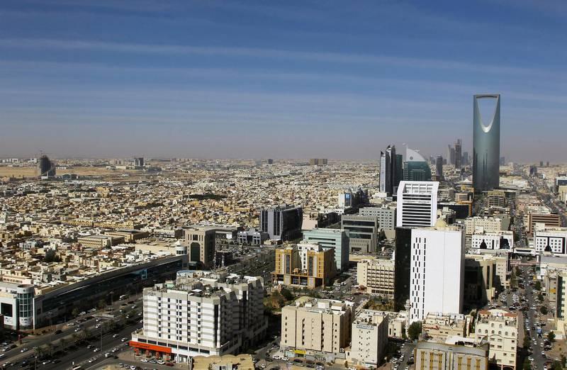 A view shows buildings and the Kingdom Centre Tower in Riyadh, Saudi Arabia, January 1, 2017. REUTERS/Faisal Al Nasser - RC1D15136E90