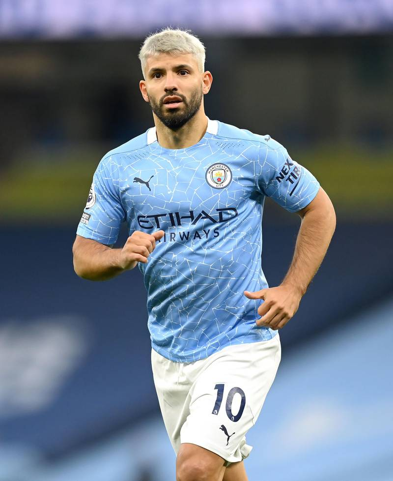 """File photo dated 17-10-2020 of Manchester City's Sergio Aguero. Issue date: Tuesday February 2, 2021. PA Photo. Sergio Aguero has been cleared to return to training with Manchester City but is still """"a few weeks"""" away from playing, manager Pep Guardiola has said. See PA story SOCCER Man City.  Photo credit should read Michael Regan/PA Wire."""
