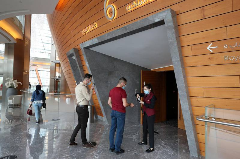 Dubai, United Arab Emirates - Reporter: Razmig Bedirian. Dubai Opera is back in action after three months off due to the pandemic. One of its first shows is the Um Kulthum hologram performance. Friday, August 7th, 2020. Dubai. Chris Whiteoak / The National