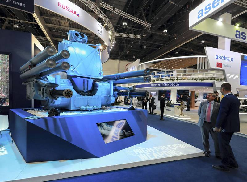 Abu Dhabi, U.A.E., February 18, 2019. INTERNATIONAL DEFENCE EXHIBITION AND CONFERENCE  2019 (IDEX) Day 2--  The PANTSIR_ME at the Russia area.Victor Besa/The National