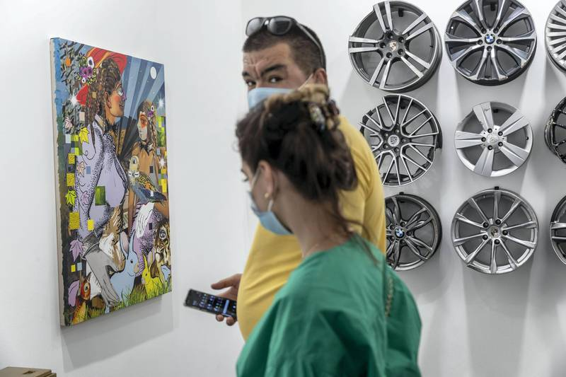 DUBAI, UNITED ARAB EMIRATES. 01 APRIL 2021. Art Dubai 2021 at DIFC. Stems Gallery. (Photo: Antonie Robertson/The National) Journalist: Amith Passela. Section: Sport.