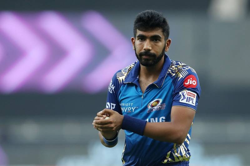 Jasprit Bumrah of Mumbai Indians during match 10 of season 13 of the Dream 11 Indian Premier League (IPL) between The Royal Challengers Bangalore and The Mumbai Indians held at the Dubai International Cricket Stadium, Dubai in the United Arab Emirates on the 28th September 2020.  Photo by: Ron Gaunt  / Sportzpics for BCCI