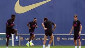 Depay, Pique and De Jong train with Barcelona ahead of Bayern Munich clash - in pictures
