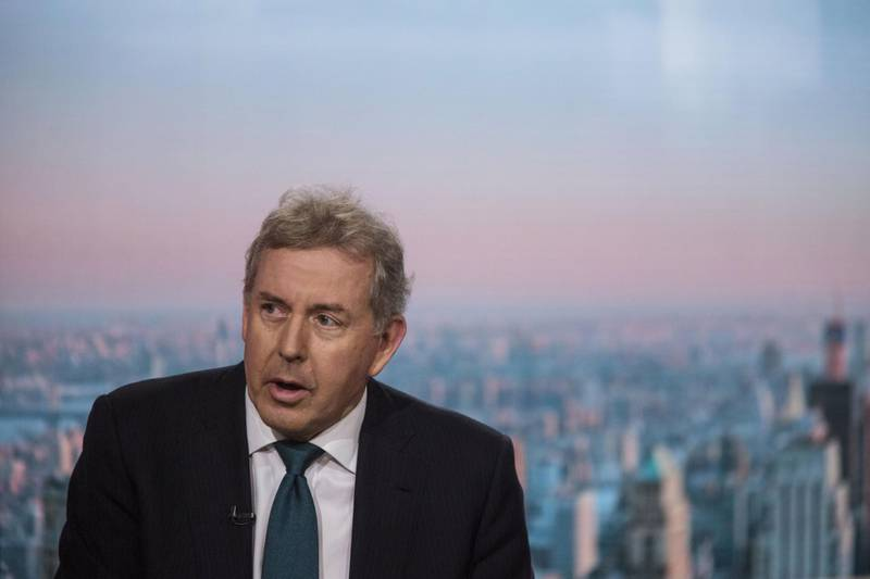 The United Kingdom Ambassador to The U.S. Kim Darroch sits for an interview on Bloomberg Television in New York, New York, Friday May 18, 2018. Photograph: Victor J. Blue