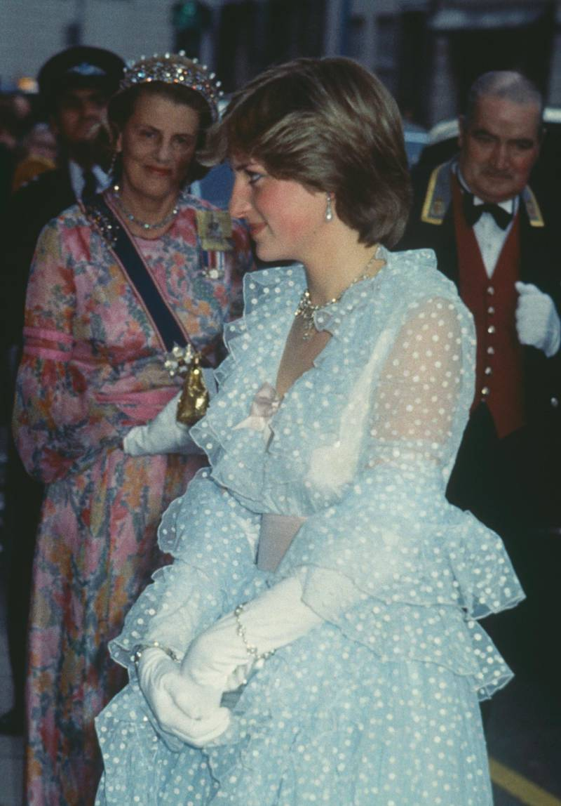 Lady Diana Spencer (1961 - 1997, later Diana, Princess of Wales) at a banquet given at Claridges hotel for King Khalid of Saudi Arabia, 11th June 1981. (Photo by Keystone/Hulton Archive/Getty Images)