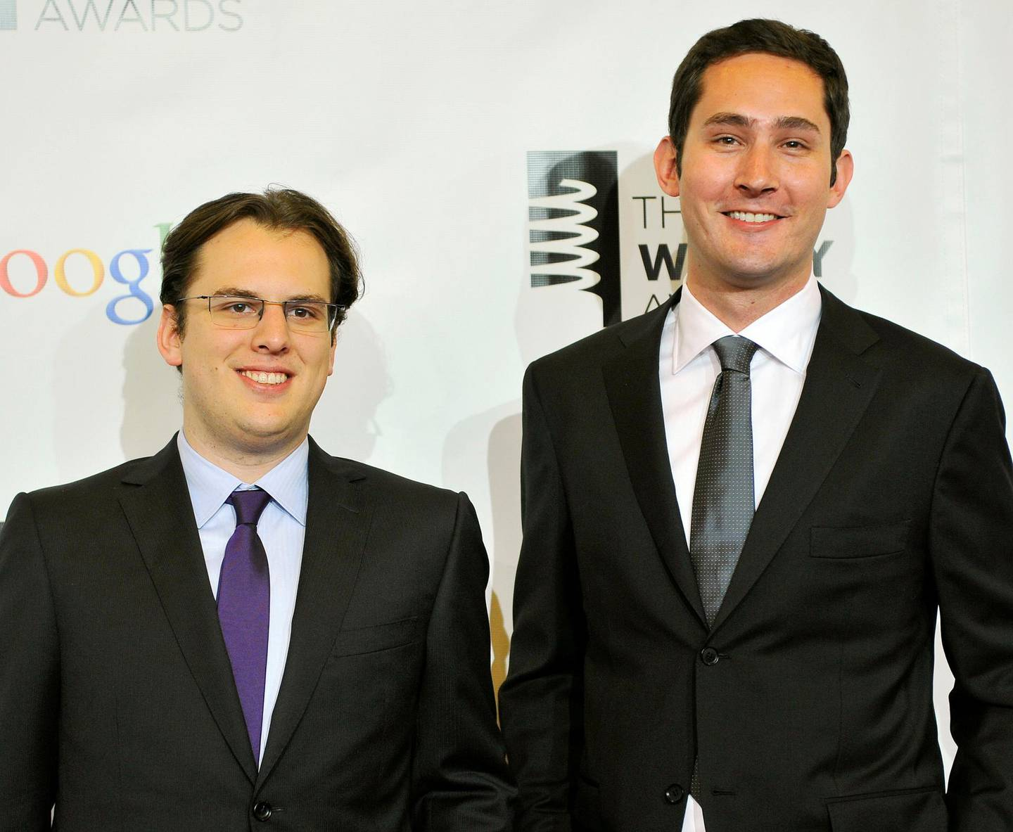 FILE PHOTO: Instagram founders Mike Krieger (L) and Kevin Systrom attend the 16th annual Webby Awards in New York May, 21 2012. REUTERS/Stephen Chernin/File Photo