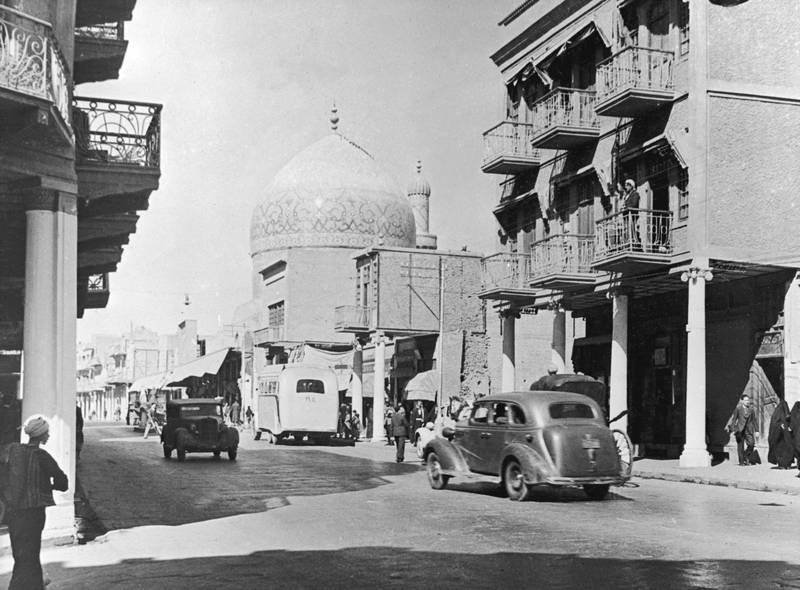 Rashid Street in Baghdad, Iraq, November 1945. (Photo by J A Freakley/Fox Photos/Hulton Archive/Getty Images)