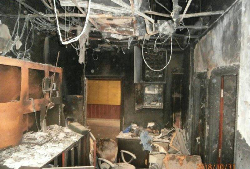 Control room ground floor at Zen Tower fire. courtesy: Rose City Contracting Company