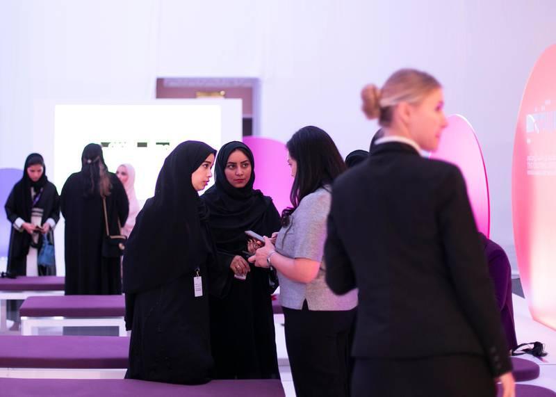 DUBAI, UNITED ARAB EMIRATES. 16 FEBRUARY 2020. Global Women's Forum Dubai.(Photo: Reem Mohammed/The National)Reporter:Section: