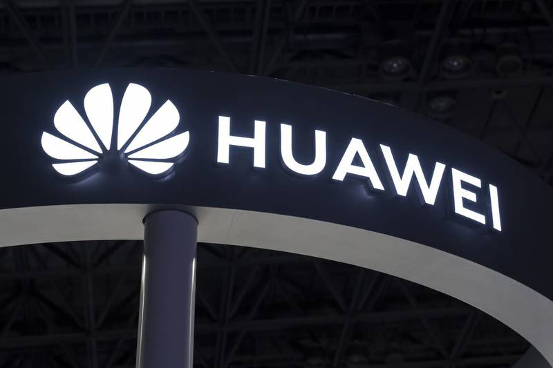 CHIBA, JAPAN - SEPTEMBER 12:  The Huawei Technologies Co. logo is seen on the business day of the Tokyo Game Show 2019 at Makuhari Messe on September 12, 2019 in Chiba, Japan. The Tokyo Game Show will be open to the public on September 14 and 15, 2019. (Photo by Tomohiro Ohsumi/Getty Images)