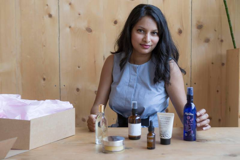 DUBAI, UNITED ARAB EMIRATES, 04 JULY 2017. Vila Vasoodaven, the founder of Greenchicme.com, a new online platform all about natural beauty and skincare. (Photo: Antonie Robertson/The National) Journalist: Hafsa Lodi. Section: Lifestyle.