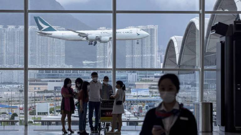 An image that illustrates this article Cathay Pacific faces 'toughest period' in its history as it narrows first half loss