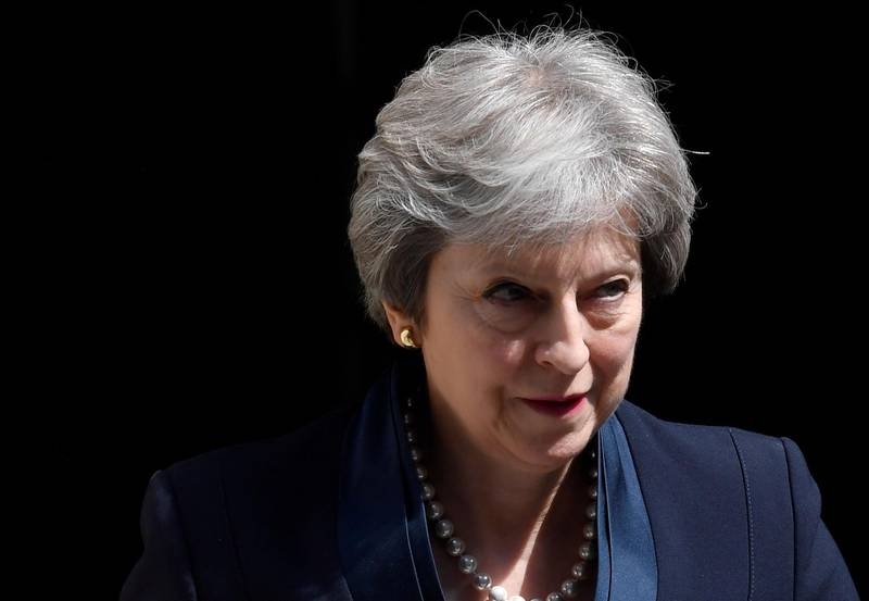 FILE PHOTO: Britain's Prime Minister Theresa May leaves 10 Downing Street in London, Britain, May 23, 2018. REUTERS/Toby Melville/File Photo