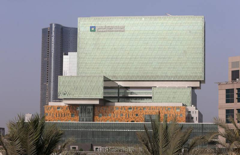 ABU DHABI , UNITED ARAB EMIRATES Ð May 31 , 2015 : Outside view of the Cleveland Clinic on Al Maryah Island in Abu Dhabi. ( Pawan Singh / The National ) For News Stock *** Local Caption *** PS3105- CLEVELAND CLINIC22.jpg