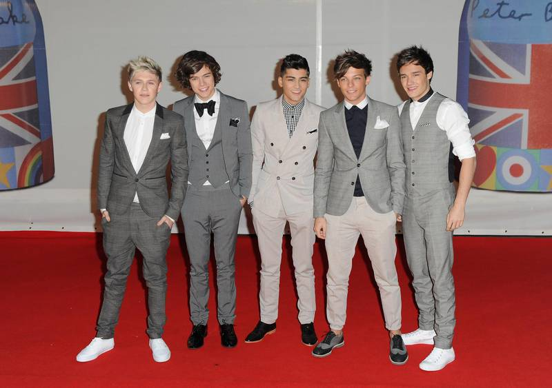 LONDON, ENGLAND - FEBRUARY 21:  (L to R) Niall Horan, Harry Styles, Zayn Malik, Louis Tomlinson and Liam Payne of One Direction  attend The BRIT Awards 2012 at the O2 Arena on February 21, 2012 in London, England.  (Photo by Gareth Cattermole/Getty Images)
