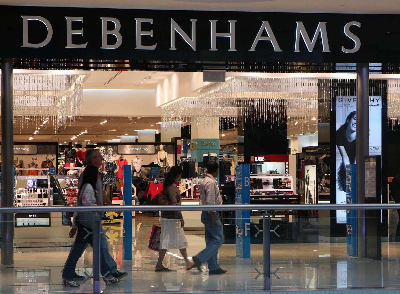 DUBAI - JUNE 19,2009 - Panoramic view of Debenhams shop in Dubai Mall. ( Paulo Vecina/The National ) *** Local Caption ***  PV Shop 38.jpg