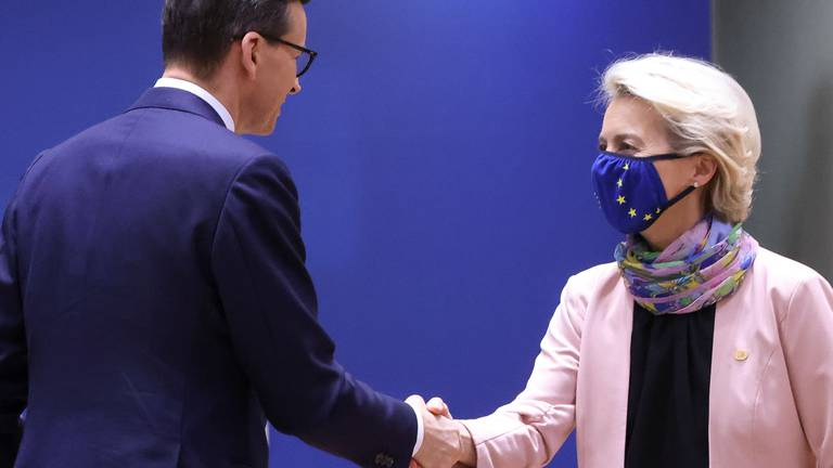 An image that illustrates this article EU law row with Poland dominates Brussels summit