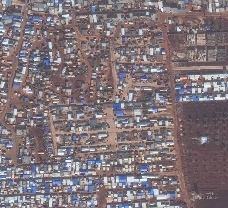 Idlib Displacement Camp A. This image was taken on 02/12/2019. Courtesy Digital Globe