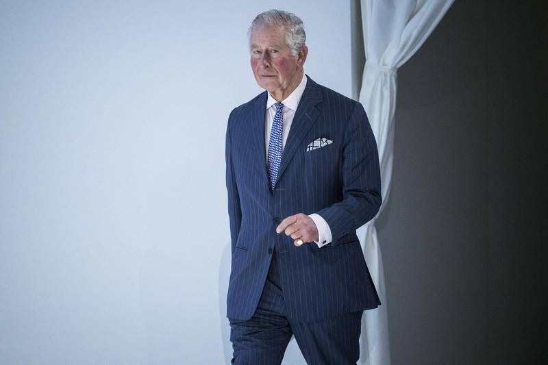 epa08151218 Britain's Charles, the Prince of Wales, arrives to address a plenary session during the 50th annual meeting of the World Economic Forum (WEF) in Davos, Switzerland, 22 January 2020. The meeting brings together entrepreneurs, scientists, corporate and political leaders in Davos under the topic 'Stakeholders for a Cohesive and Sustainable World' from 21 to 24 January 2020.  EPA/ALESSANDRO DELLA VALLE