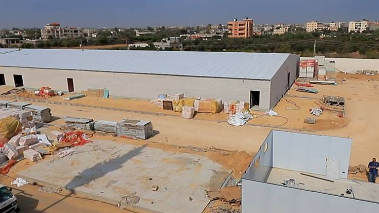 An image that illustrates this article UAE-funded field hospital under construction in Gaza