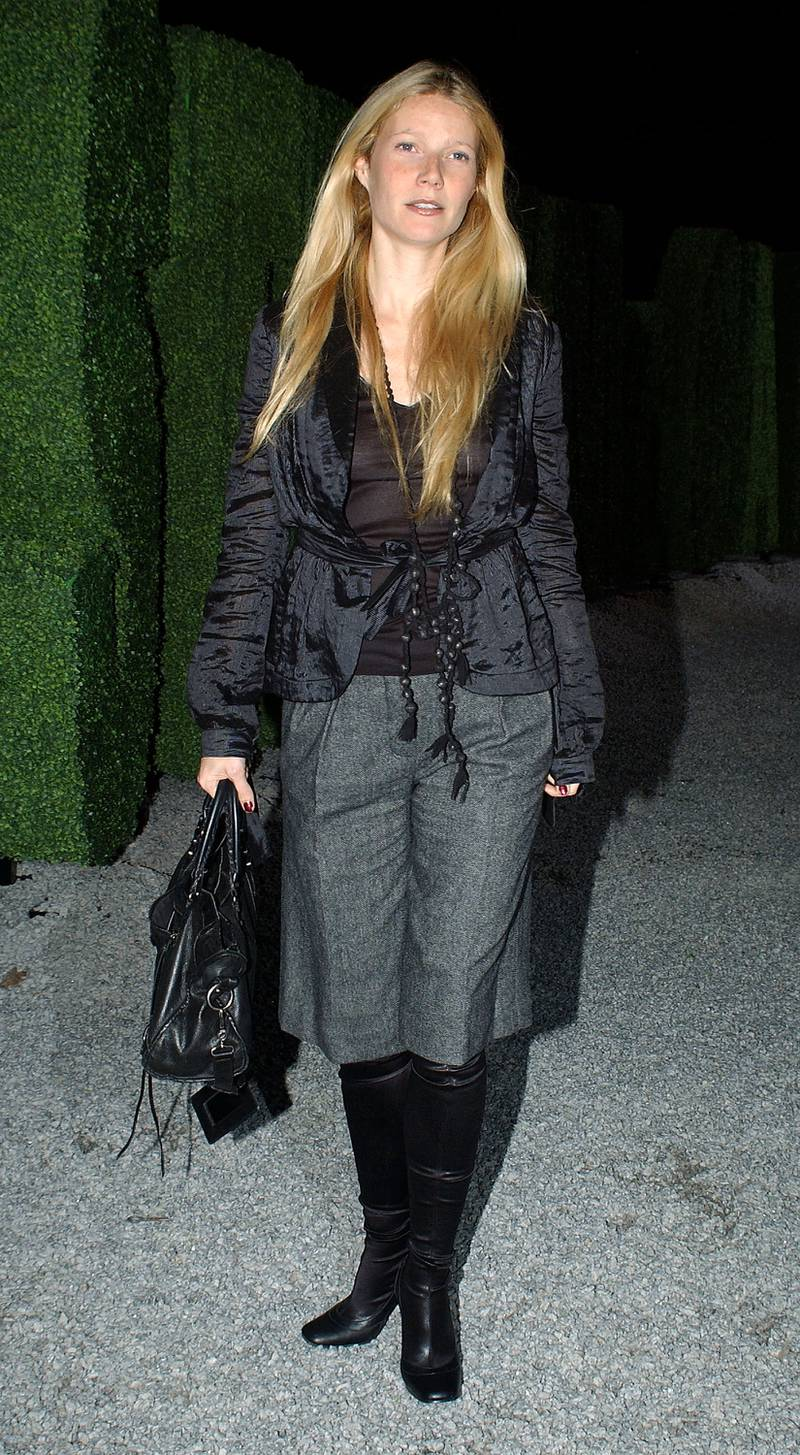 LONDON - OCTOBER 25:  Actress Gwyneth Paltrow attends the launch party celebrating designer Stella McCartney's collaboration with high-street fashion chain H&M, at St Olave's House October 25, 2005 in London, England. The fashion label, which launched a similar limited-edition Karl Lagerfeld range last autumn, initially had McCartney's friend Kate Moss as the face of the new ad campaign, but Moss was dropped following drug allegations.  (Photo by David Westing/Getty Images)