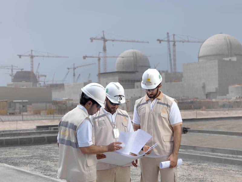 Unit 1 of Barakah Nuclear Power Plant. Courtesy FANR