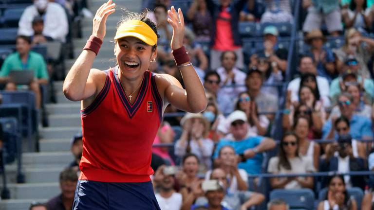 An image that illustrates this article Raducanu makes US Open history after dismantling Bencic to reach semi-finals
